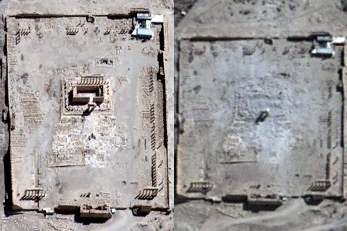 Temple of Bel, Palmyra: before and after