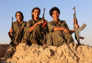 Yezidi Women's Fighters