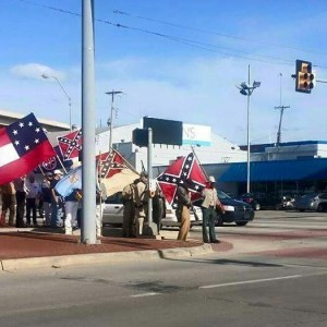 Sons of Confederate Veterans on the march in Oklahoma City