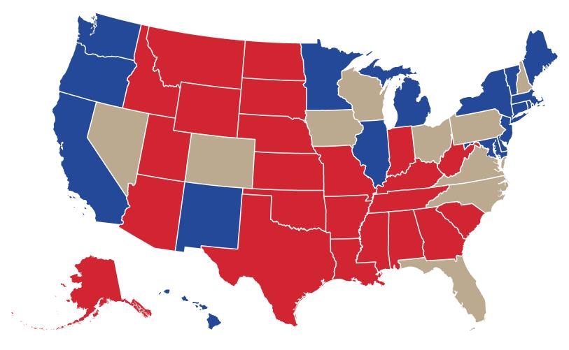 Swing states map