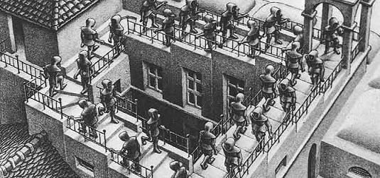 Escher's infinite staircase