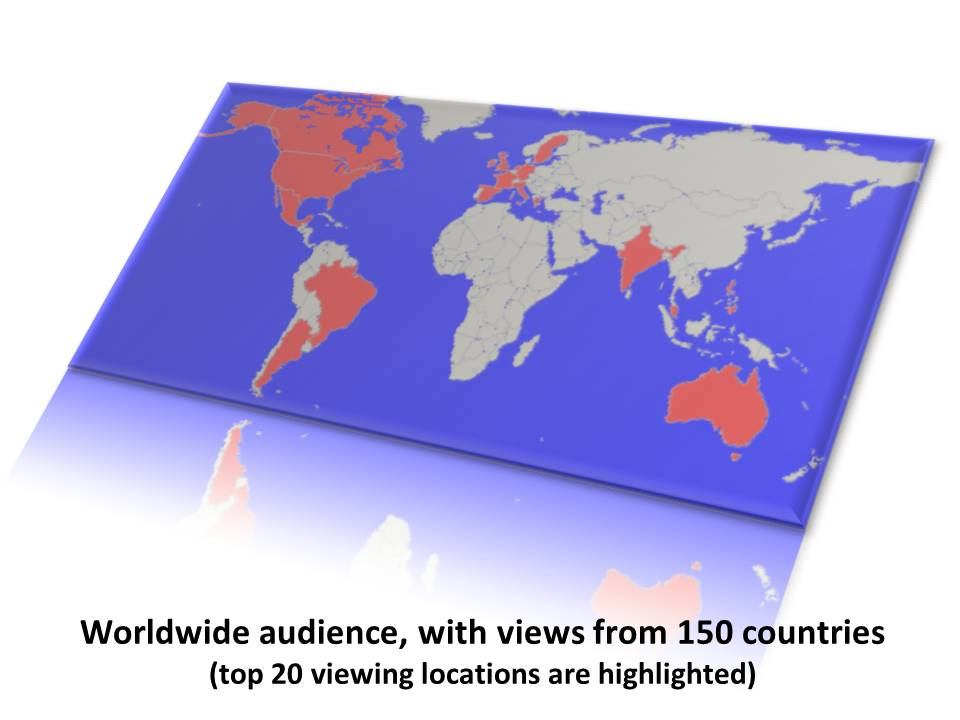World map of views