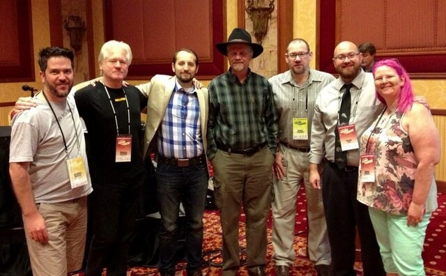"""All the """"Blogging Skepticism"""" presenters - Jacques, Russell, Ed, John, Derek, me, and Maria"""