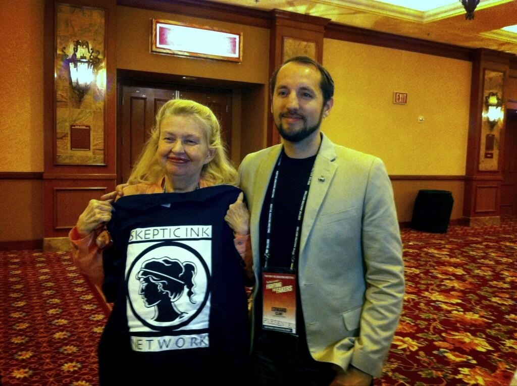SIN co-founder Ed Clint with Susan Jacoby