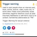 Trigger Warnings and the Problems Therein