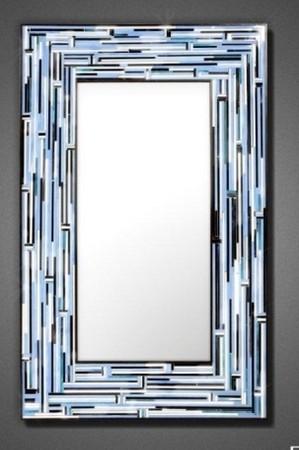 Blue Barbarella ntemporary Mirror