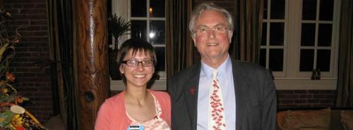 Richard Dawkins enduring shitty company