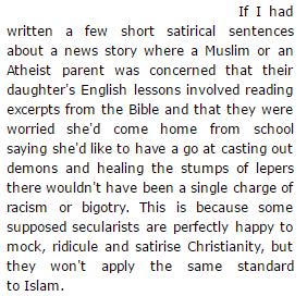 Satirising Islam