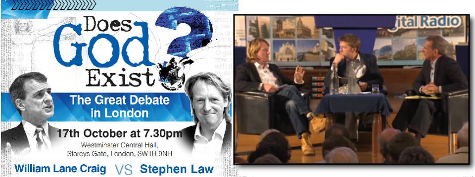 Does God Exist? Stephen Law debates William Lane Craig