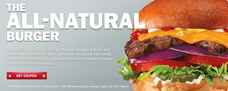 Carl's Jr All-Natural Burger