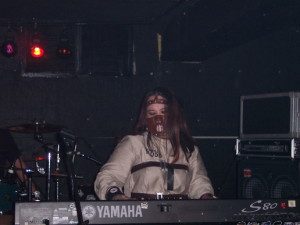 Cherry Teresa performing keyboards in Baltimore. Halloween 2014