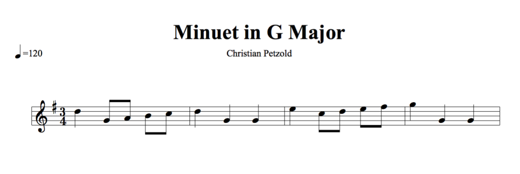 Minuet in G Major by Petzold