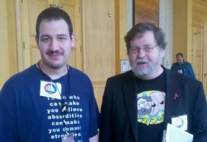 PZ Myers and I at American Atheists' 2012 conference