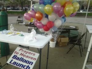 """Prayers to Heaven Balloon Launch"""