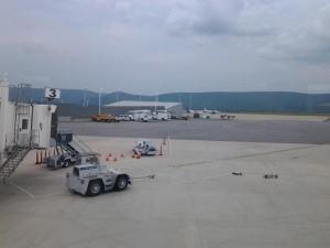 Wilkes-Barre/Scranton airport before the storm